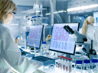 Serviços auxiliares para laboratórios