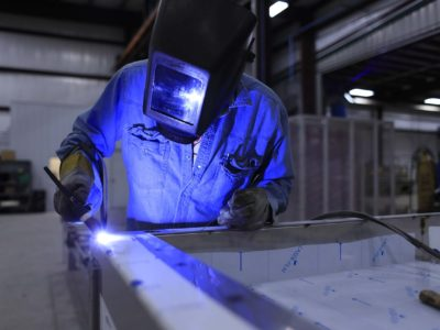 Processo de fabricação de estrutura na indústria